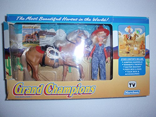 1992 Palomino Stallion Horse Grand Champions Doll & Accessory Set Marchon