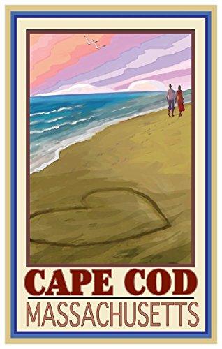 Cape Cod Love On Coast Travel Art Print Poster by Joanne Kollman (12