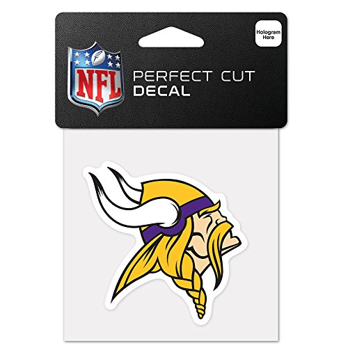 WinCraft NFL Minnesota Vikings 63054013 Perfect Cut Color Decal, 4
