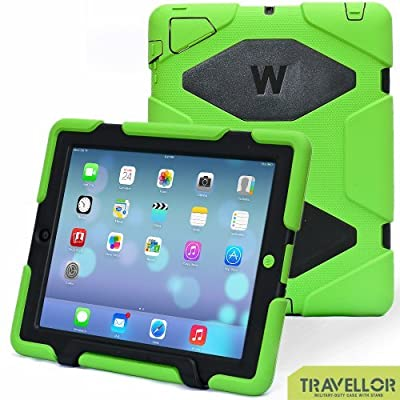 iPad Cases,iPad 2 Case,iPad 3 Case,iPad 4 Case,TRAVELLOR®[Heavy Duty] iPad Case,Three Layer Armor Defender And Full Body Protective Case Cover With Kickstand And Screen Protector for iPad 2/3/4