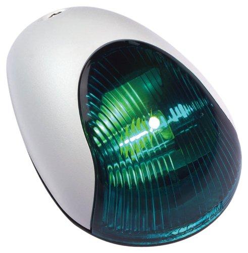 Light 2 Mile Vertical Mount - attwood White Cover 2-Mile Vertical Mount Navigation Light (Starboard/Green Lens)