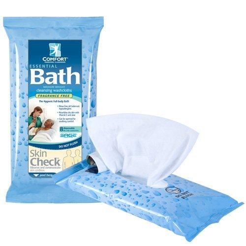 Fragrance-free Essential Comfort Bath Cleansing Washcloths - Inner Carton (3.