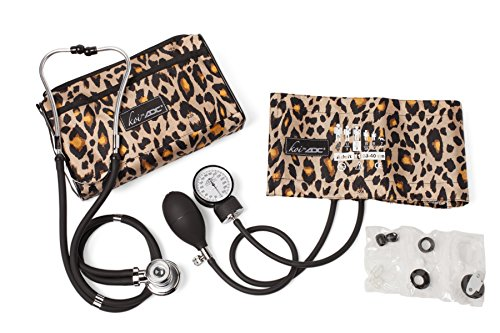 Koi by ADC Blood Pressure and Sprague Stethoscope Combo Kit New Leopard Print ()