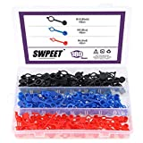 Swpeet 180Pcs Grease Fitting Cap Assortment, Grease Zerk Fitting Cap Plastic Dust Cover