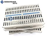OdontoMed2011 GERMAN GRADE STEEL SET OF 5 EACH DENTAL AUTOCLAVE STERILIZATION CASSETTE RACK BOX TRAY FOR 20 INSTRUMENT ODM