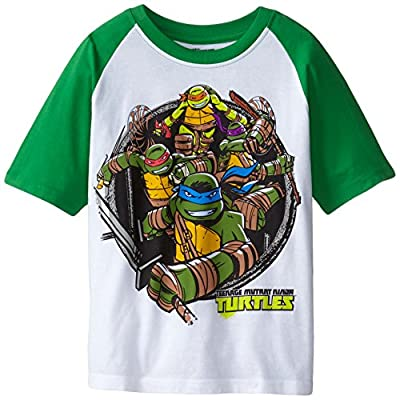 Teenage Mutant Ninja Turtles Boys' Short Sleeve Raglan T-Shirt