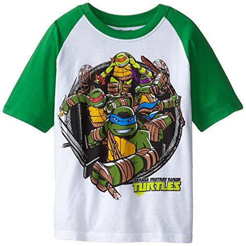 Nickelodeon Teenage Mutant Ninja Turtles Boys' Short Sleeve Raglan T-Shirt
