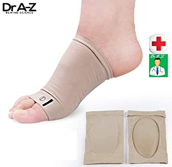 d50573568f Compression Arch Support Gel 2 Pcs Plantar Fasciitis Heel Spurs Sleeves  Inserts Silicone Gel Pads Soft