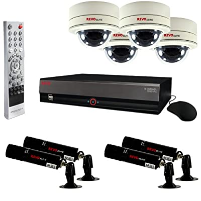 RevoDVR Surveillance System with 4 Wireless Bullet Cameras