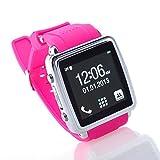 Often(TM)MQ588-L GSM Moda Pantalla 1.54 inch HD Smart Touch Reloj Bluetooth teléfono celular color rosa