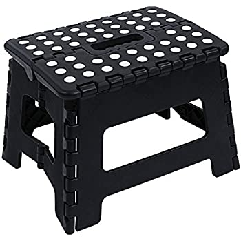 "Amazon.com: Super Strong Folding Step Stool - 11"" Height - Holds up to 300 Lb - The lightweight"