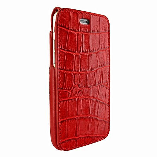 Piel Frama 760 Red Crocodile iMagnumCards Leather Case for Apple iPhone 7 / 8 by Piel Frama (Image #1)