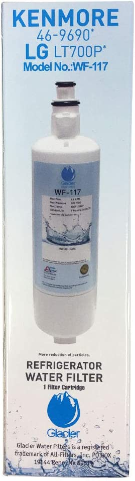 Replacement LG LT700P Refrigerator Water Filter - Compatible LG LT700P Fridge Water Filter Cartridge (1)