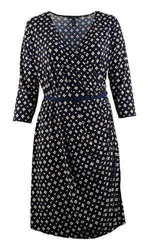 Ralph Lauren Navy & White Belted Jersey Dress Plus size (Ralph Lauren Belted Belt)