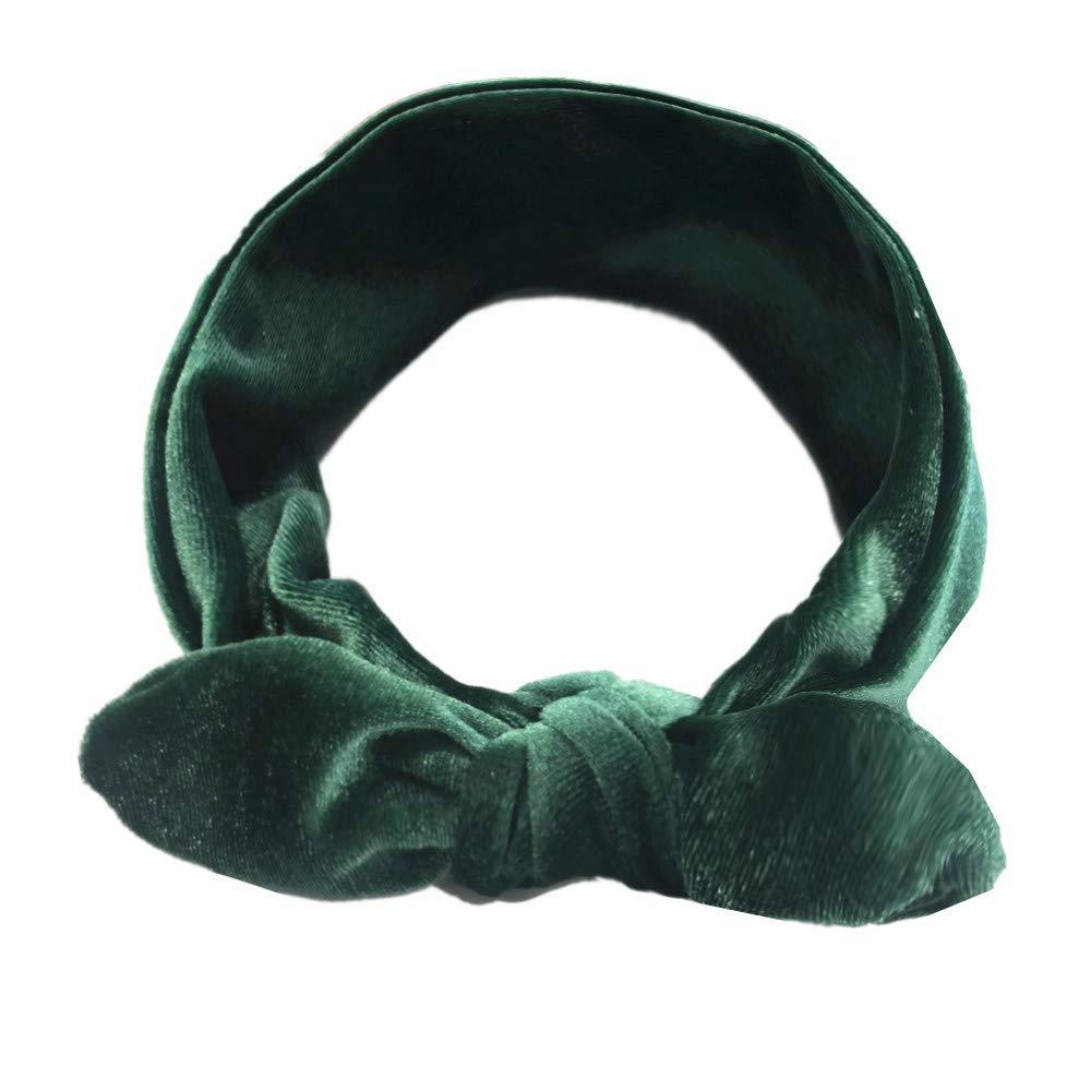 NUWFOR Kids Girls Baby Turban Solid Headband Hair Knotted Pleuche Accessories Headwear B