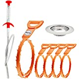 Gigules Drain Snake Hair Drain Clog Remover Cleaning Tool Drain Relief Cleaner for Sink Tube bathroom (7 Pack)