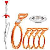 #9: Gigules Drain Snake Hair Drain Clog Remover Cleaning Tool Drain Relief Cleaner for Sink Tube bathroom (7 Pack)