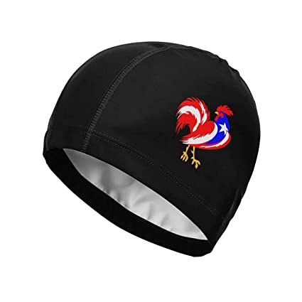 Swim 0x1836 Swimming Cap, Puerto Rico Flag Cock Swim Cap para ...