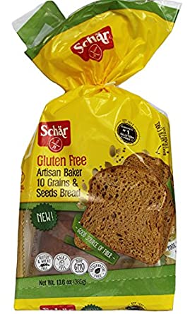 Schar NEW Gluten Free, Artisan Baker 10 Grains & Seeds Bread, 13.6 oz, Pack of 6