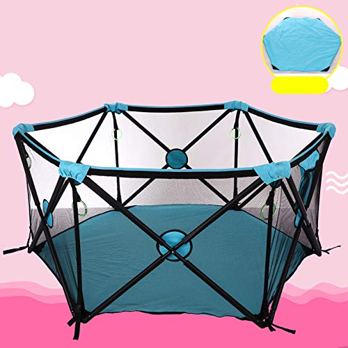 Portable Playard Indoor and Outdoor with Carry Case and Washable, 6-Panel