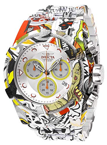 Invicta Men's Bolt Quartz Watch with Stainless Steel Strap, Multi Color, 35 (Model: 27095) (Invicta 53mm Watch)