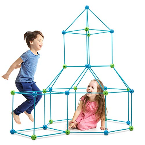 Obuby Kids Construction Fort Building Kit 85 Pieces Ultimate Forts Builder Gift Build Making Kits Toys for Boys and Girls to DIY Building Castles Tunnels Play Tent Rocket Tower Indoor & Outdoor