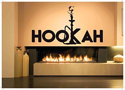 - Vinyl Sticker Decal Wall Decor Poster Art Shisha Hookah Word Tribal Vase Bottle SetLounge Water Pipe House Cafe Smoke Shop Store Indoor Outdoor Sign Set SA821