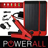 PowerAll DELUXE PBJS12000R 400 Amp 12,000 mAh Portable Lithium Jump Starter, Power Bank, LED Flashlight Red/Black (2 PACK)