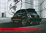 2013 Fiat 500 Abarth ORIGINAL Large Factory Postcard