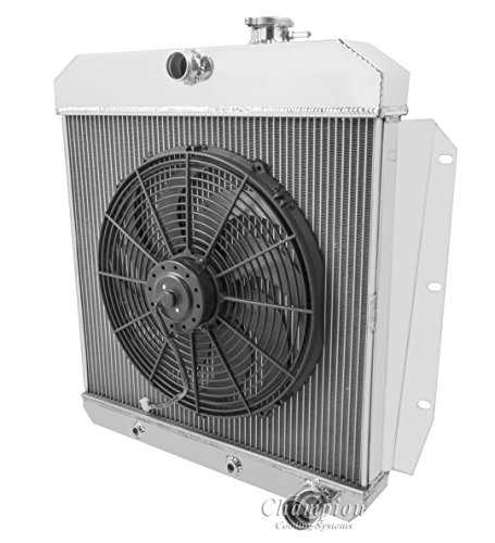 "3 Row Radiator, All Aluminum & 16"" Fan for 1955-1959 Chevy Pickup Trucks, 1955-1959 GMC Pickup Trucks. Radiator Manufactured by Champion Cooling Systems, Part#5559"