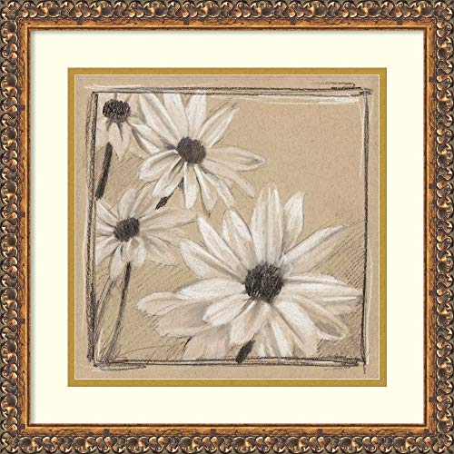 Framed Wall Art Print White Floral Study II by Ethan Harper 17.88 x 17.88