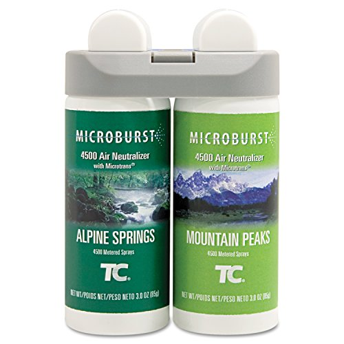 Rubbermaid Commercial 3485950 Microburst Duet 2-Fragrance Aerosol Odor Control Air Care System, Fragrance Refill, Alpine Spring/ Mountain Peaks (Neutralizer Refill Air Aerosol)
