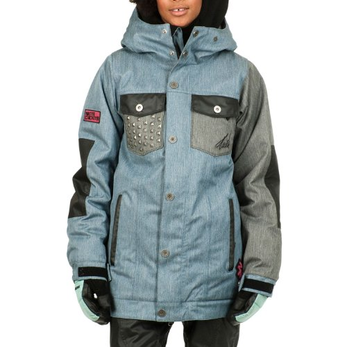 Nikita Women's Katla Jacket, Denim Blue/Jet Black, X-Small (Nikita Denim)