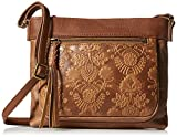 The Sak The Mini Sanibel Crossbody Cross Body, Tobacco Floral Emboss