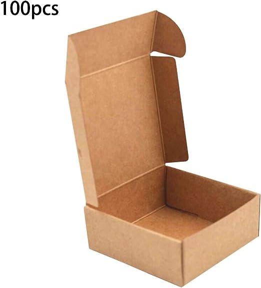 JERKKY Caja de Papel Kraft 100 Piezas Caja de Papel Kraft Embalaje Agradable Bolsas de Regalo de tamaño pequeño y Papel Caja de Boda Papel Amarillo: Amazon.es: Hogar