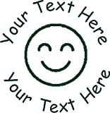 Happy Face Custom Teacher Motivational Reward Stamp - 1'' - Personalize with Your own Custom Text