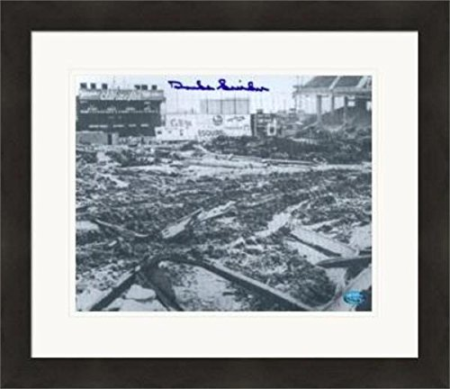 Ebbets Field Framed Photo - Autographed Snider Photograph - 8x10 Ebbets Field Destroyed) #SC8 Matted & Framed - Autographed MLB Photos