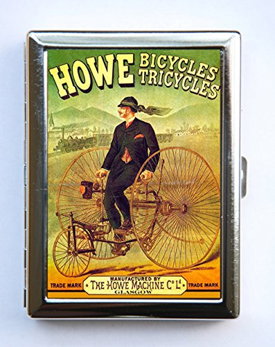 - Howe Bikes Cigarette Case Wallet Business Card Holder tricycles