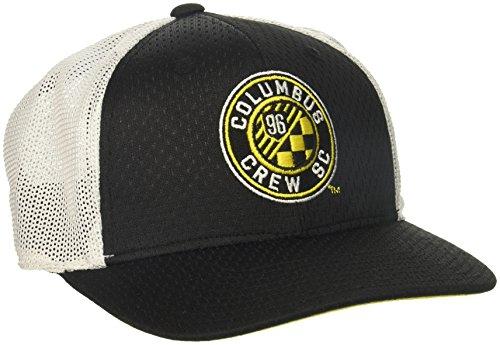 fan products of MLS Columbus Crew Adult Men Meshback Structured Flex, Large/X-Large, Black