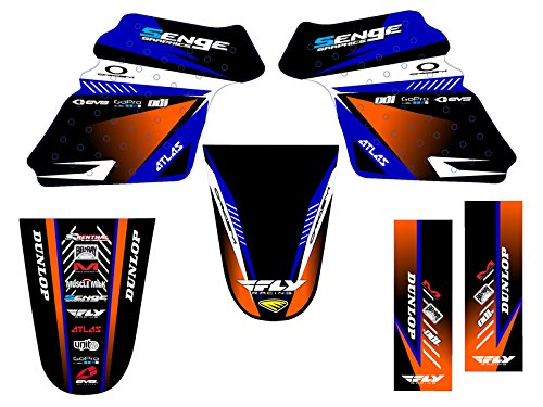 Senge Graphics 1990-2017 Yamaha PW 50, Surge Blue Graphics Kit Senge Graphics Inc.