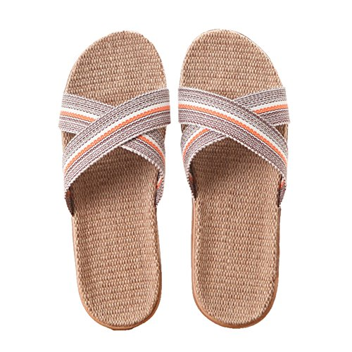 CYBLING Lightweight Slip On Linen House Slippers for Men Women Summer Open Toes Non-slip Indoor Slipper for $<!--$16.99-->