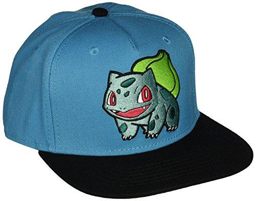 bioWorld Pokemon Bulbasaur Embroidered Snapback Cap Hat, Blue]()