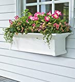 6-Foot Yorkshire Easy-Care Self-Watering Window Planter Box, in White