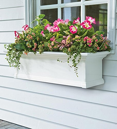 6-Foot Yorkshire Easy-Care Self-Watering Window Planter Box, in White by Plow & Hearth