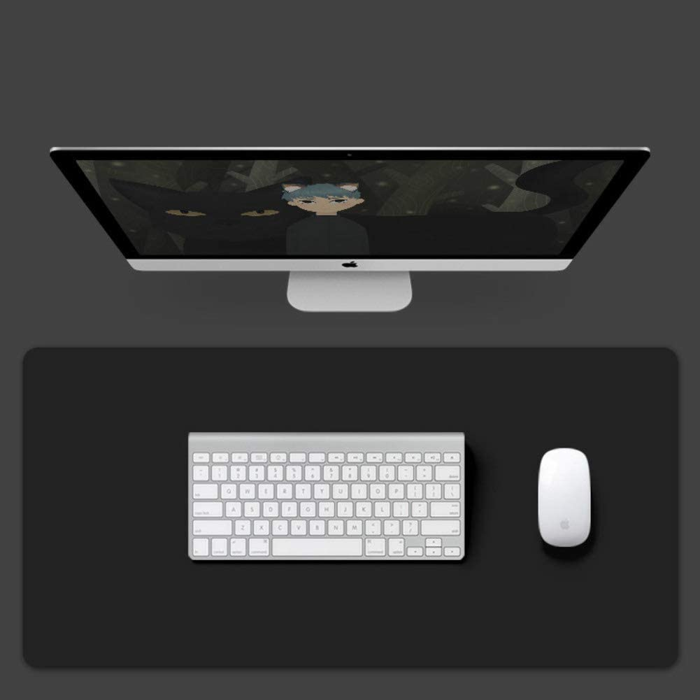 51x26inch JiaQi Computer Keyboard Mat Table Pad,Ultra Thin Double Side Mouse Mat,Extended Leather Gaming Mouse Pad Waterproof Desktop Protector-f 130x65cm