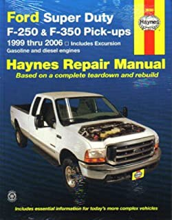 h36060 haynes ford super duty f-250 f-350 pickup and excursion 1999-