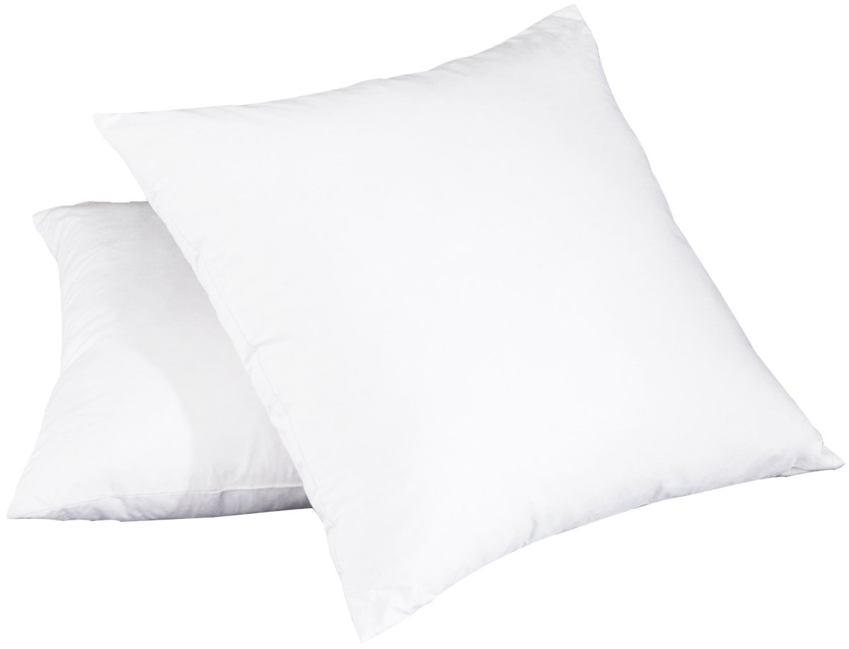 puredown White Feather Down Square Pillow Inserts Set of 2 Hotel Quality 18''x18''