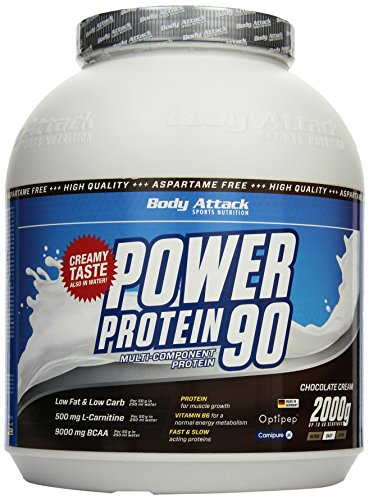 Body Attack Power Protein 90, Schoko, 2kg Dose