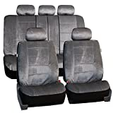 SPECIAL HOLIDAY SALE: FH GROUP FH-FB067115 Full Set Regal Car Seat Covers Gray Color- Fit Most Car, Truck, Suv, or Van