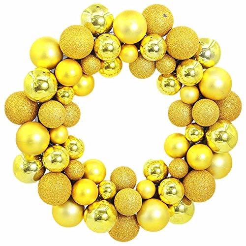 Hot Sales!! ZOMUSA Christmas 55 Balls Wreath Door Wall Ornament Garland Decoration (Pine Canadian Artificial Wreath)